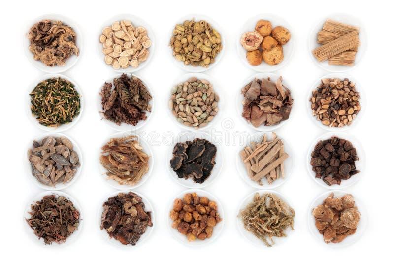 Chinese kruidengeneeskunde stock afbeeldingen