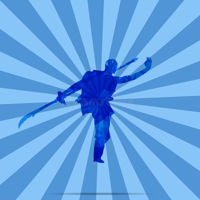 A Chinese Kung Fu Master.  royalty free illustration