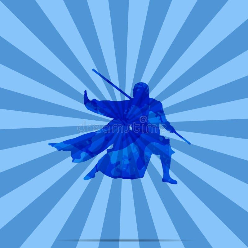 A Chinese Kung Fu Master.  stock illustration