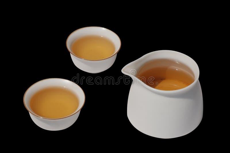 Chinese Kung Fu Tea isolated on black background royalty free stock image