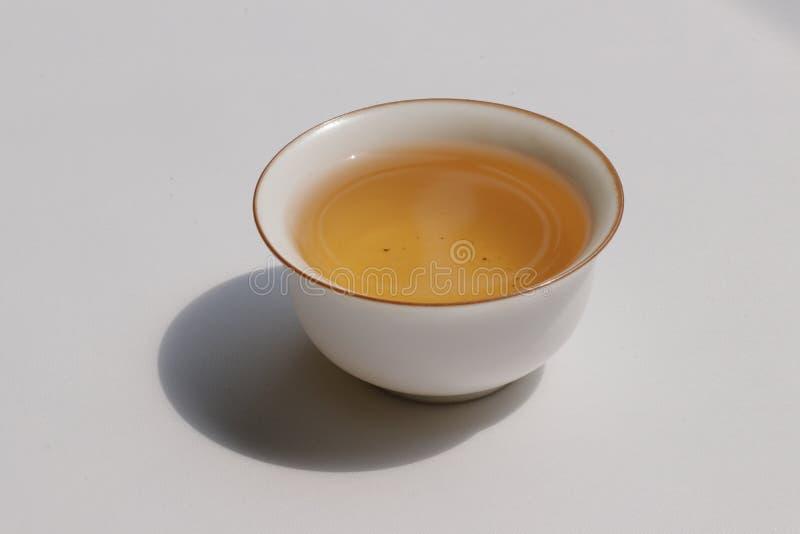 Chinese Kung Fu Tea isolated on white background royalty free stock images