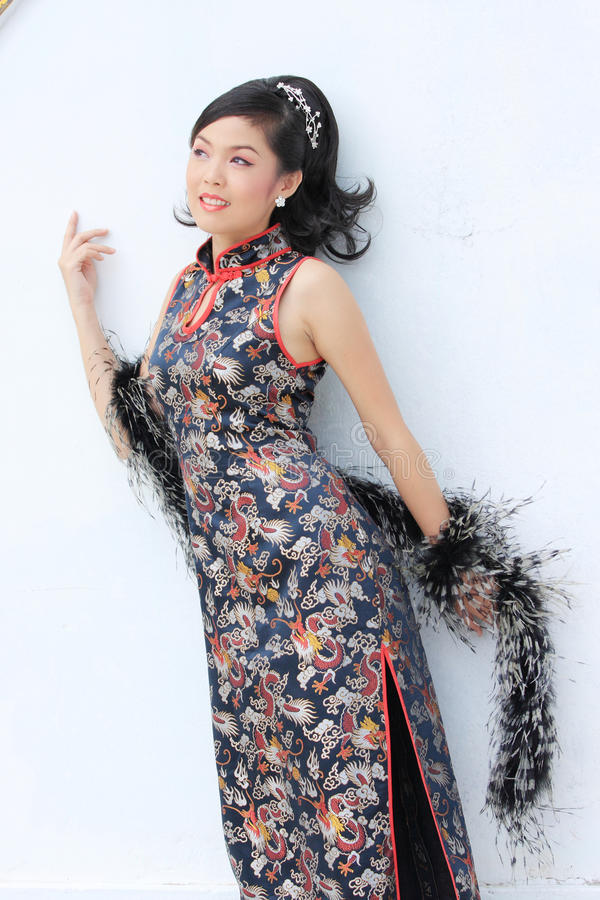 Download Chinese Lady stock image. Image of east, beautiful, flower - 21633011