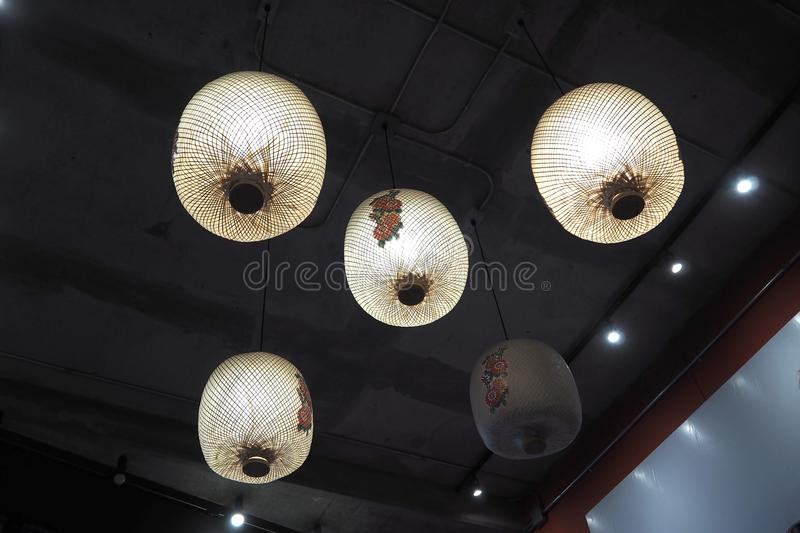 The chinese lamp look nice and classic stock photo