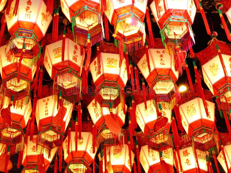Chinese lamp pattern. Light of red Chinese lamp pattern royalty free stock photo