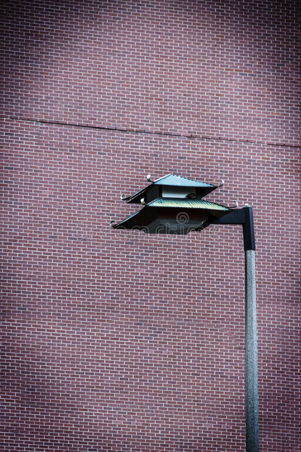 Chinese lamppost in Boston's-Chinatown royalty-vrije stock foto's