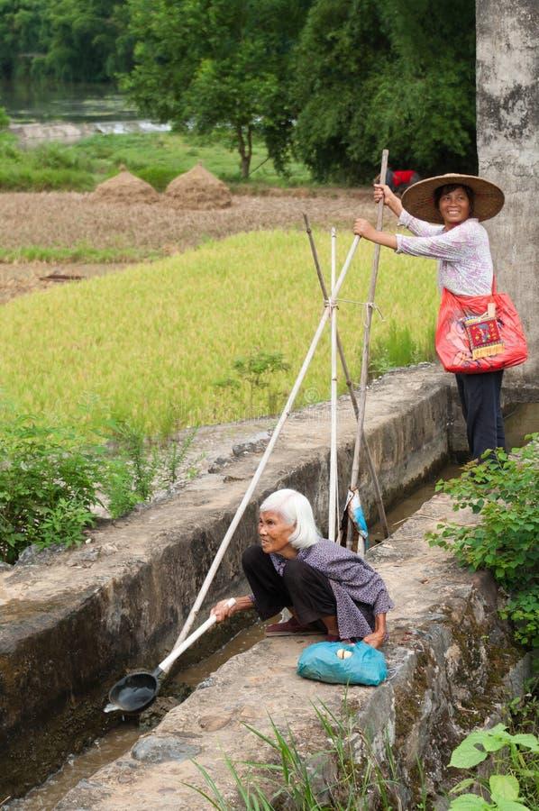 Chinese landarbeiders royalty-vrije stock afbeeldingen