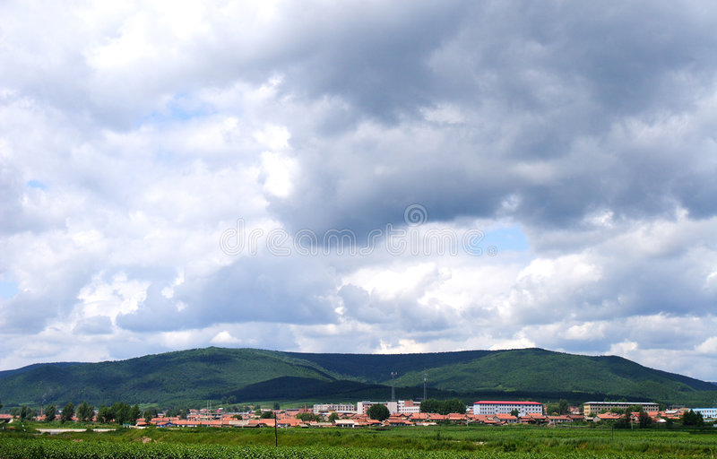 Chinese landscapes. The skies and beautiful clouds royalty free stock photography