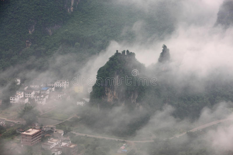 Chinese landscapes,Guilin. The Wanxiangshan mount,Guilin China stock images