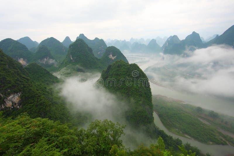 Chinese landschappen, Guilin stock afbeeldingen