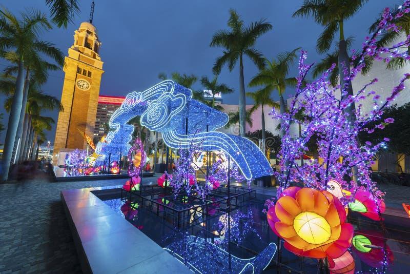 Chinese lantaarn voor Chinees nieuw jaar royalty-vrije stock afbeelding