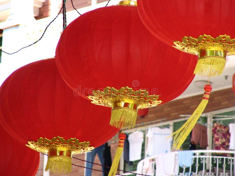 Chinese Lantaarns en kleren royalty-vrije stock foto's