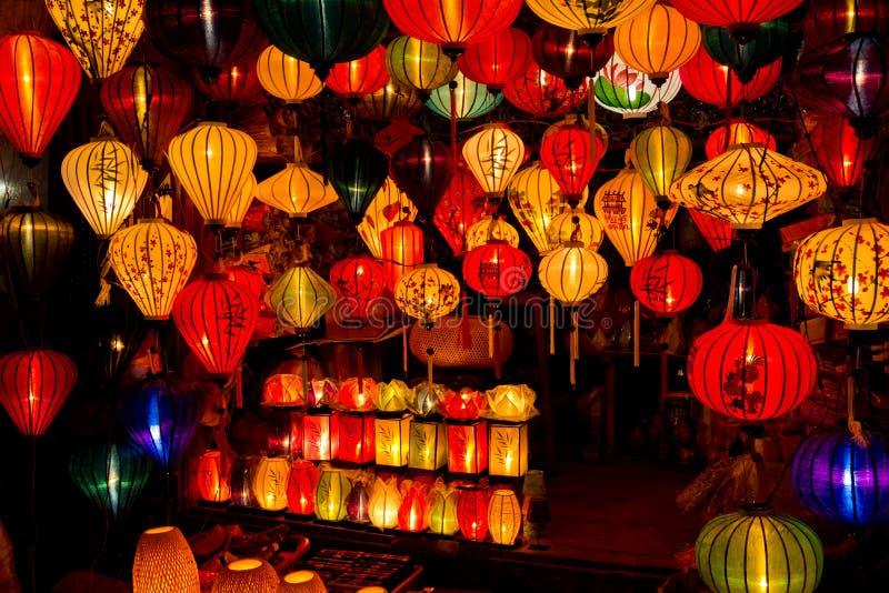Chinese lantaarns in hoi-, Vietnam royalty-vrije stock afbeelding