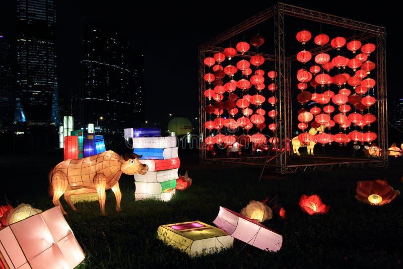 Chinese lantaarns voor de medio-herfstfestival royalty-vrije stock foto's