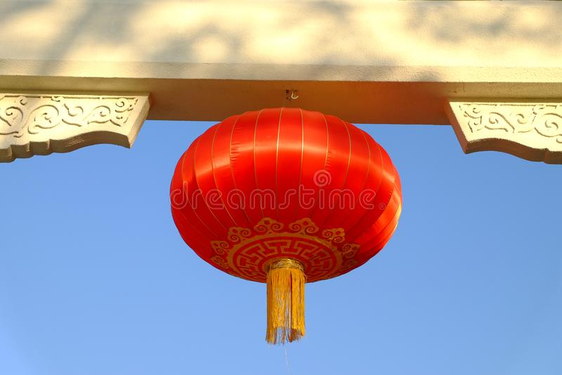 Chinese Lantern. In ancient times, people hung up red lanterns symbolizing reunion to create a festive atmosphere during Chinese New Year. Later, on every royalty free stock photo