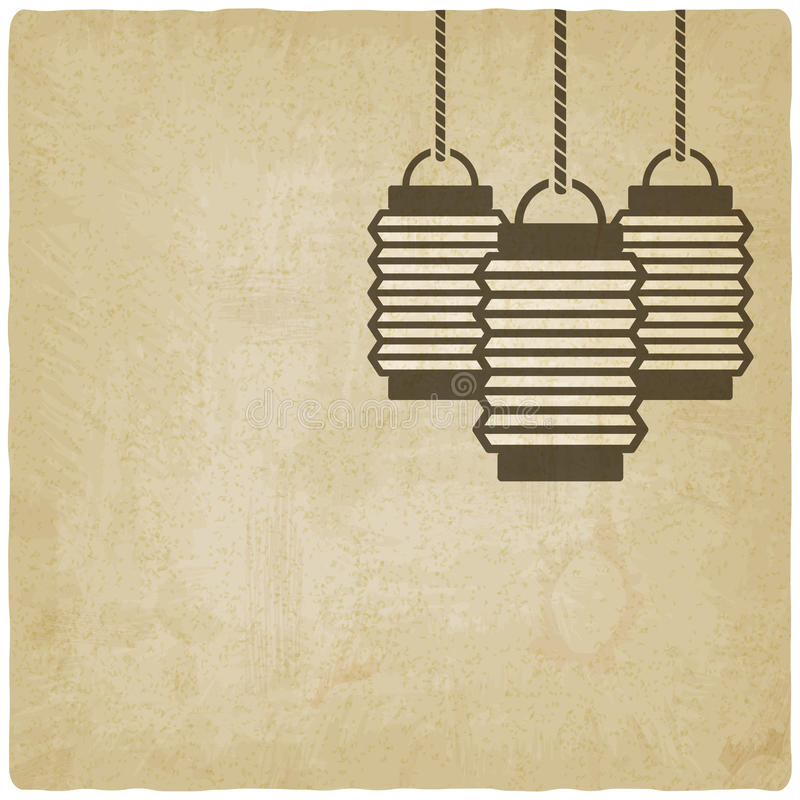 Chinese lantern old background vector illustration