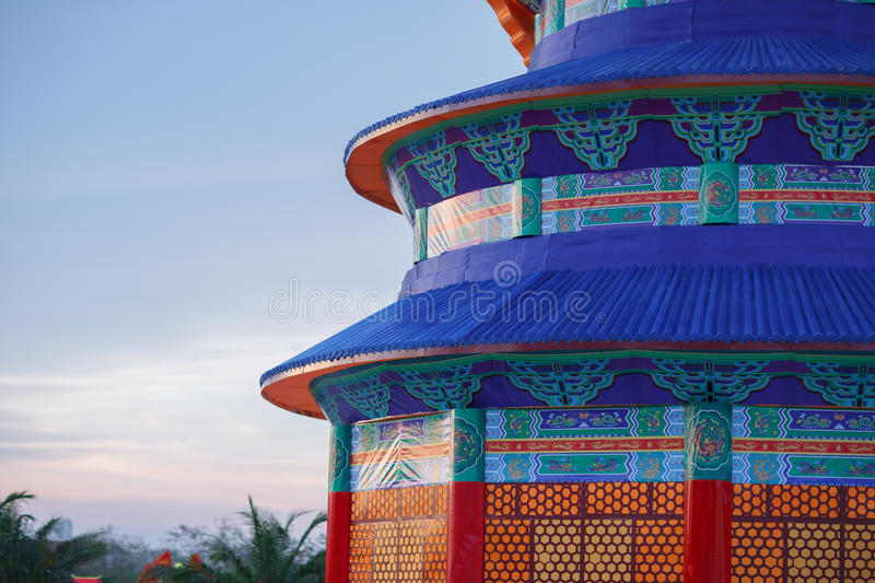 Chinese lantern. Shaped in the form of the Temple of Heaven royalty free stock photography