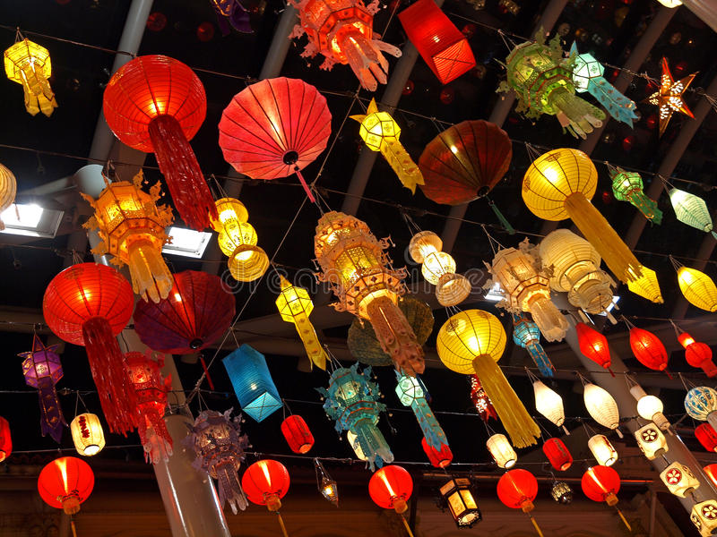 Download Chinese Lanterns stock photo. Image of candles, battery - 16010492