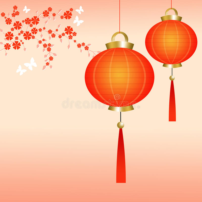 Download Chinese Lanterns Stock Illustration Of Spring