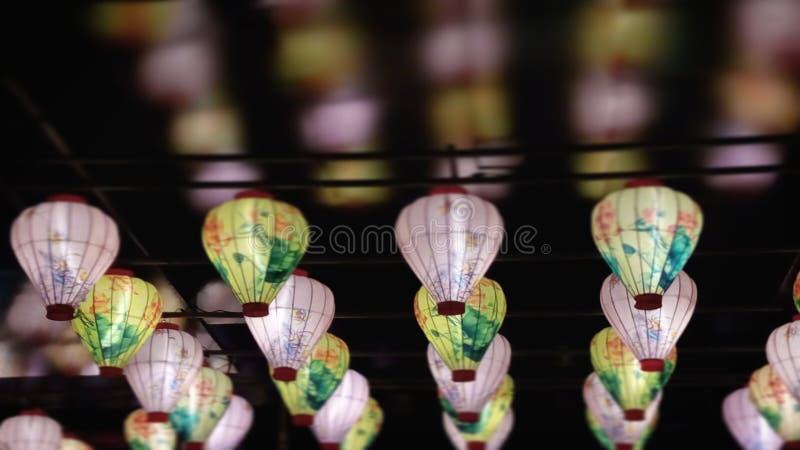 Chinese lanterns. Reflection of chinese lanterns royalty free stock images