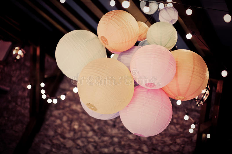 Download Chinese lanterns stock image. Image of lanterns, modern - 65817845