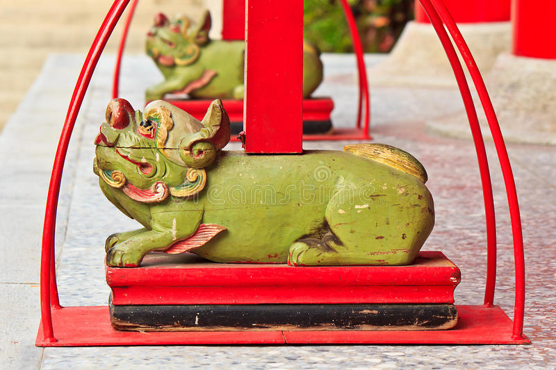 Chinese legend sacred animal. The Temple Decoration of Chinese legend sacred animal royalty free stock images