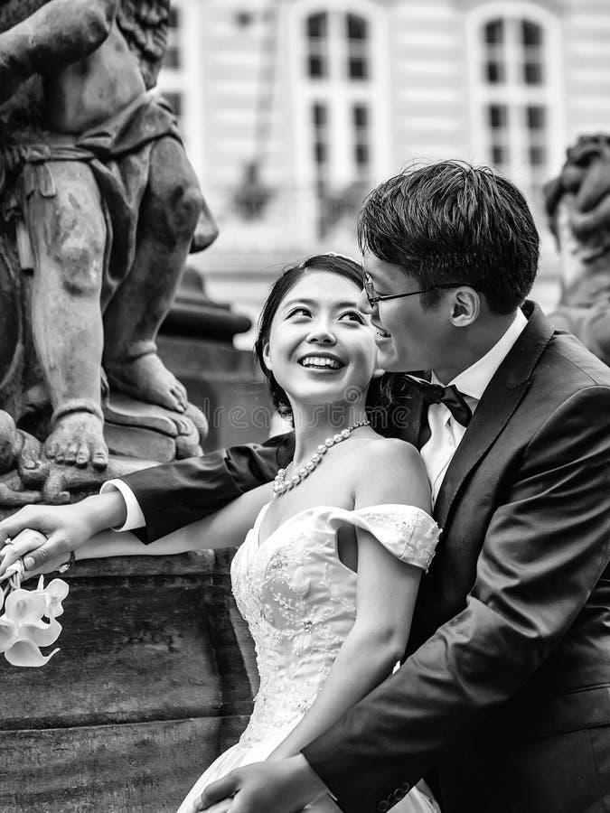 Chinese leuke jonge jonggehuwden royalty-vrije stock afbeelding