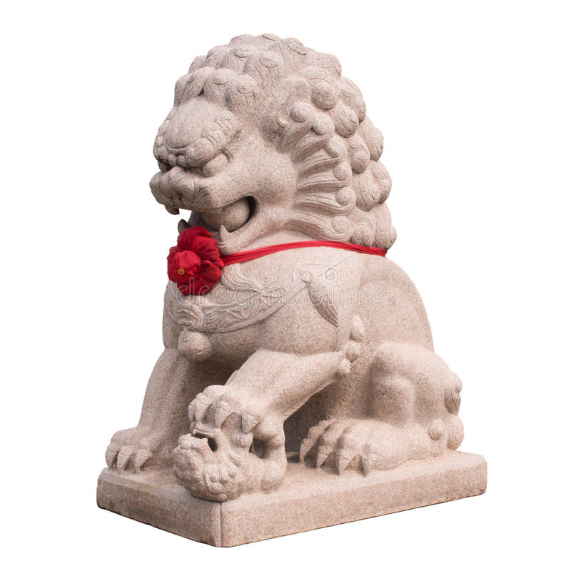 Chinese Lion Art Statue Is Symbol In Temple Stock Photo Image Of