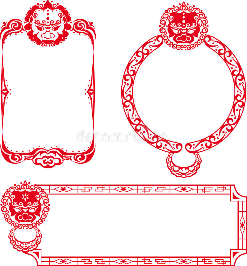 Download Chinese Lion Border Illustrations Stock Vector - Image: 25517096