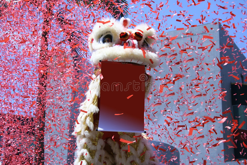 Chinese Lion Dance stock images