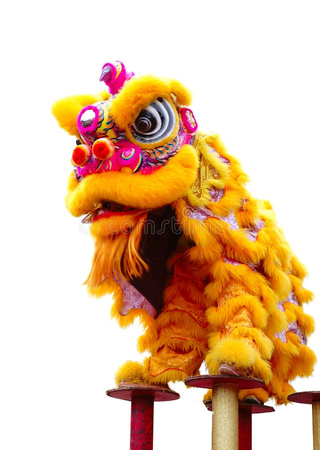 Chinese lion dance. Lion dance is a traditional folk sport event and it has a profound cultural meaning. China is the birthplace of Lion, dragon movement and it stock photography