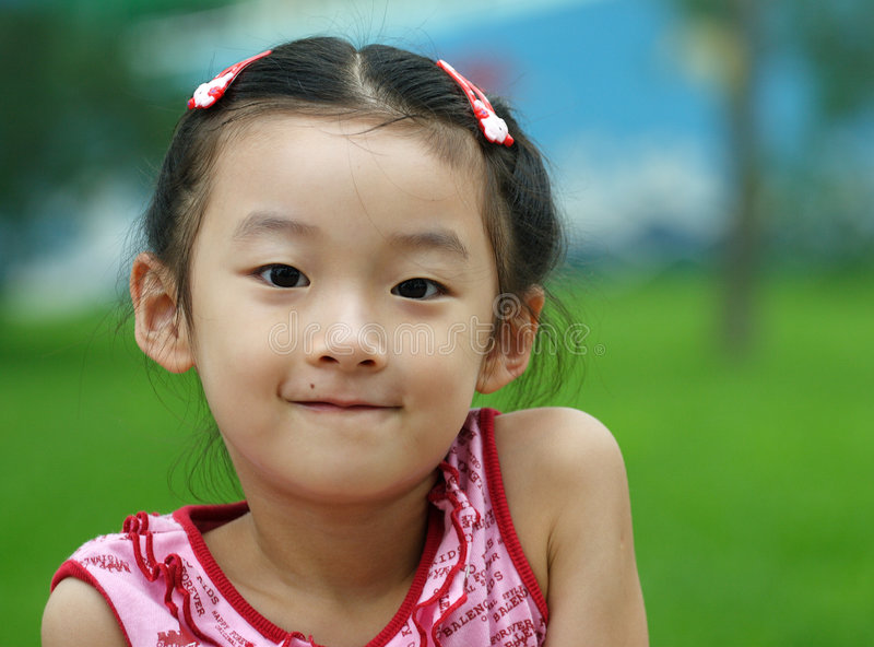 chinese little child smile stock images