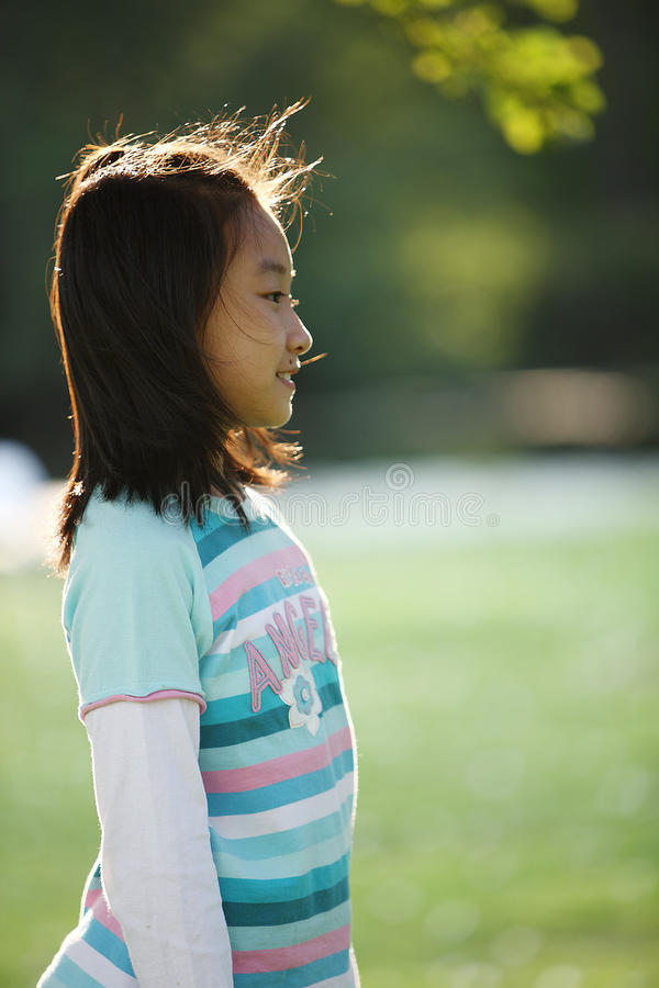 Chinese little girl stock image