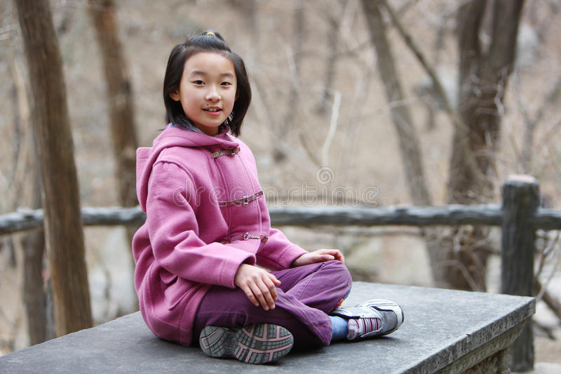 Chinese little girl royalty free stock photography