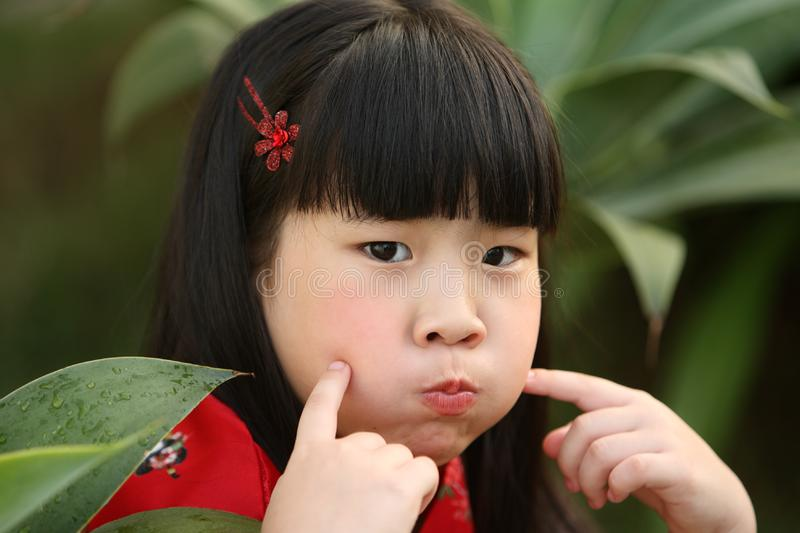 Chinese Little Girl stock photography