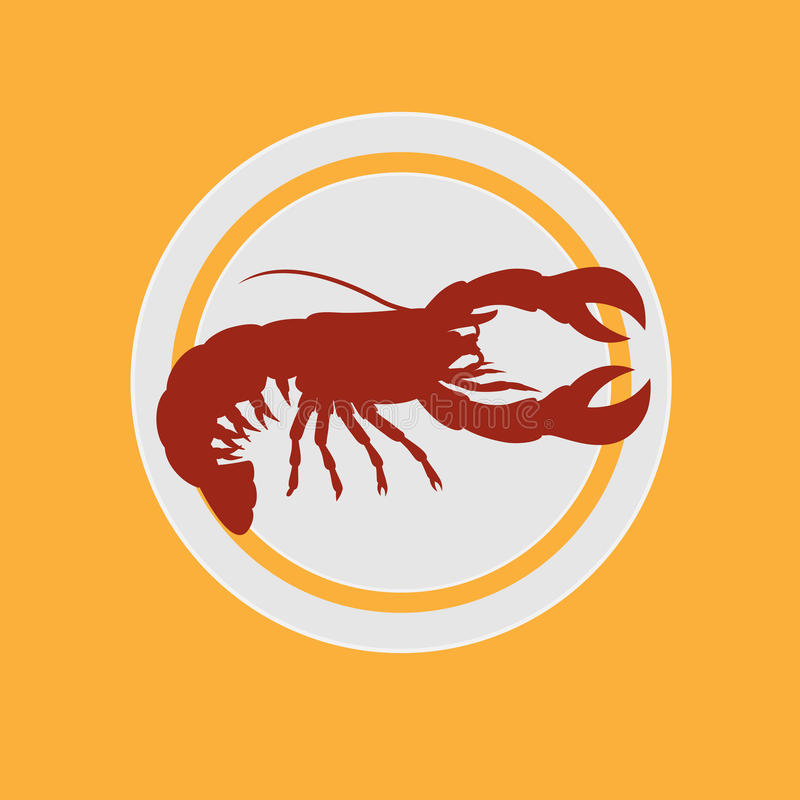 Chinese Lobster Food stock illustration