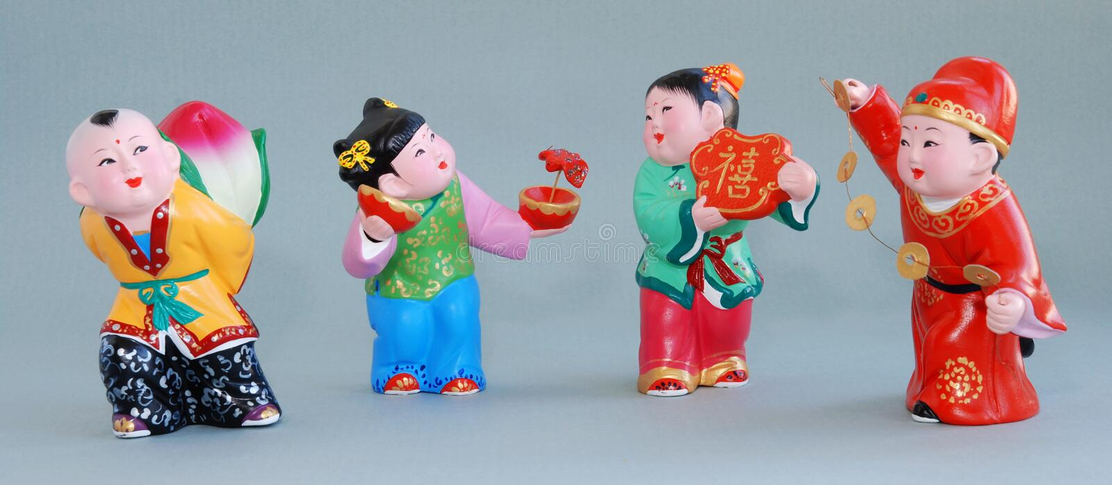 Chinese lucky clay figurine_all the best royalty free stock images