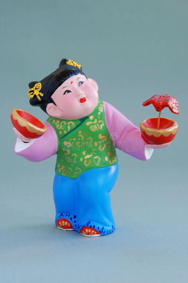 Download Chinese Lucky  Clay Figurine - Great Happiness Stock Photos - Image: 12775183