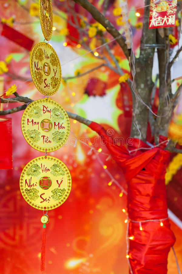Chinese Lunar New Year Ot Tet Decorations, Vietnam Stock ...
