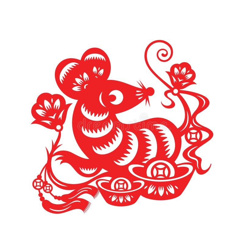 Chinese Lunar Year of the Mouse stock illustration