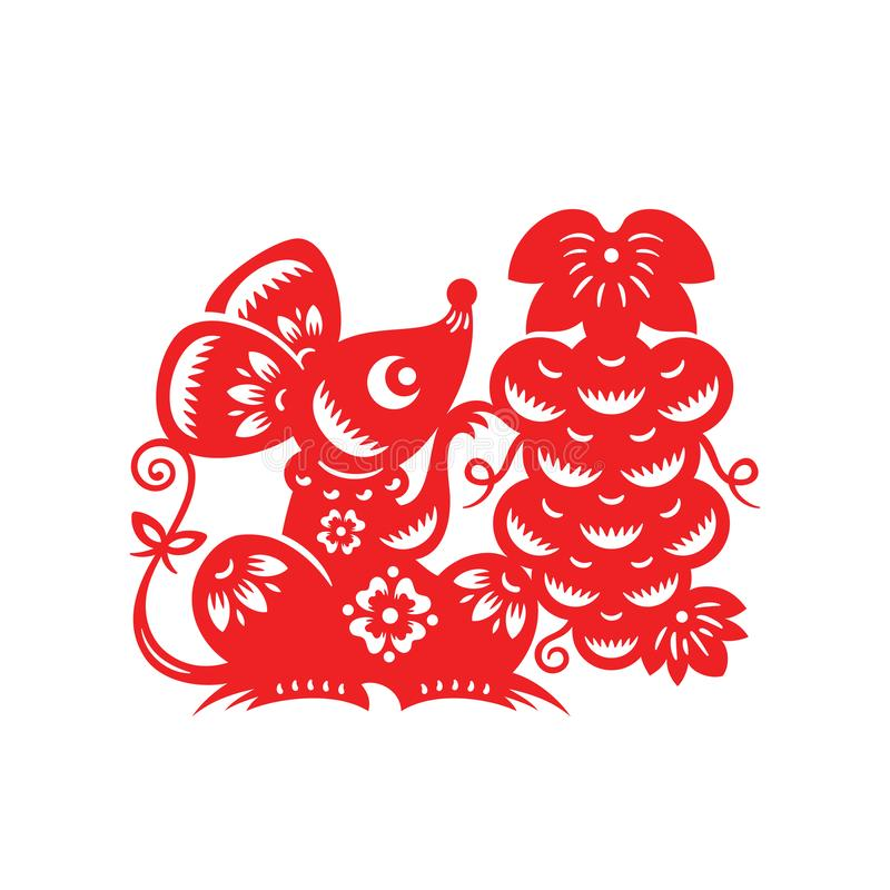 Chinese Lunar Year of the Mouse royalty free illustration