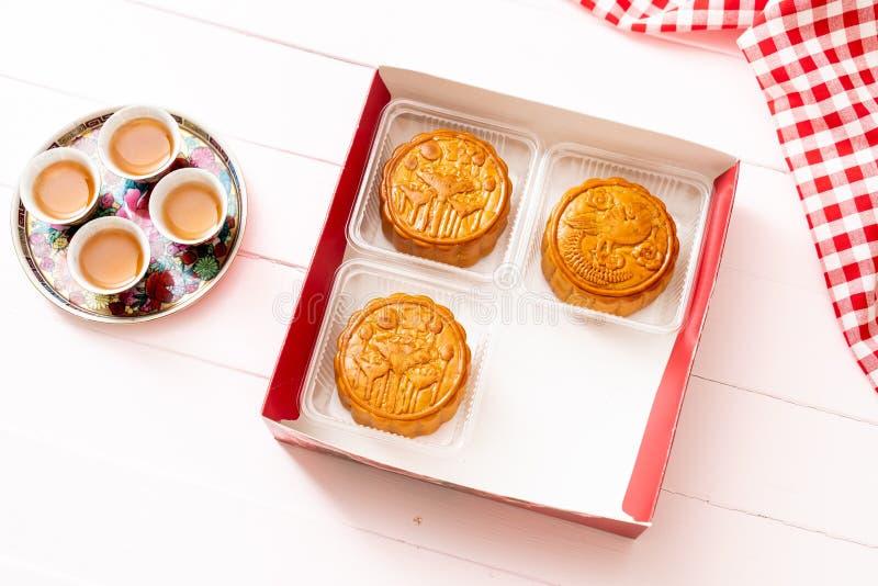 Chinese Maancake voor Chinees de medio-herfstfestival royalty-vrije stock afbeelding
