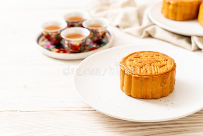 Chinese Maancake voor Chinees de medio-herfstfestival stock afbeelding