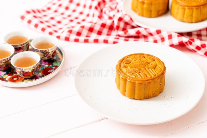 Chinese Maancake voor Chinees de medio-herfstfestival stock afbeeldingen