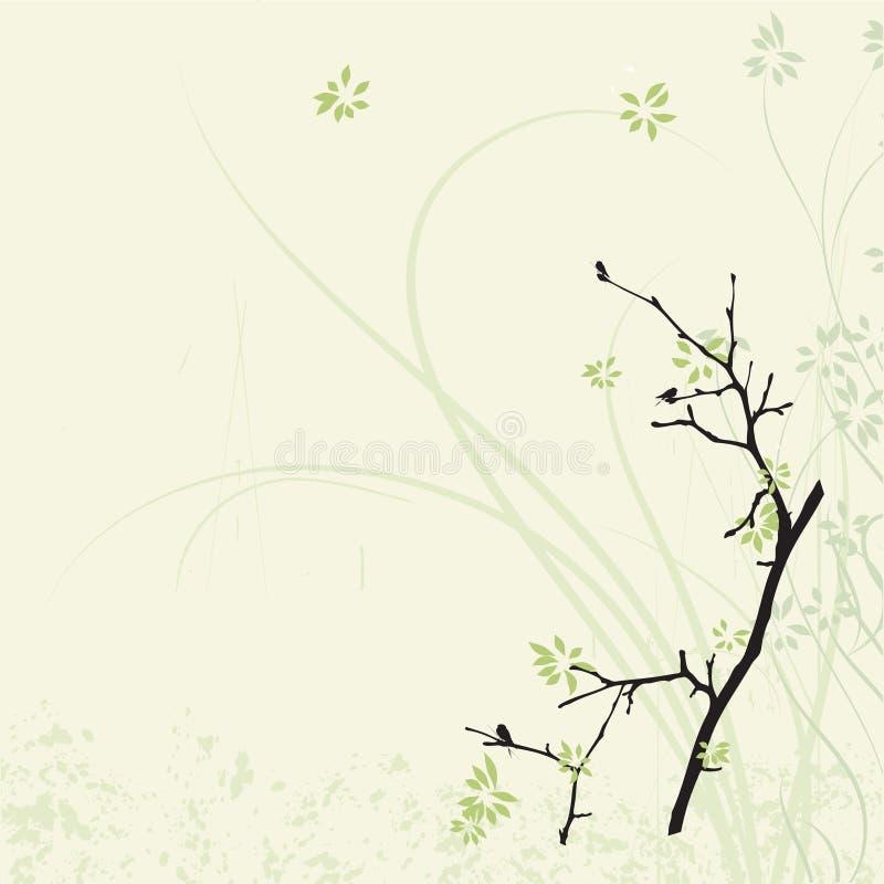 Chinese magic flower background vector illustration