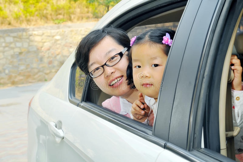Chinese Mamma en dochter royalty-vrije stock afbeelding