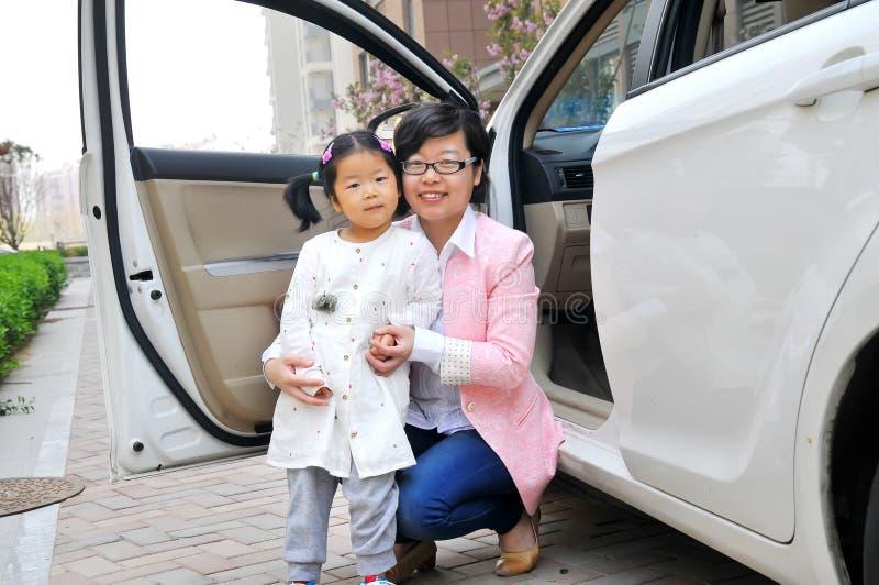 Chinese Mamma en dochter royalty-vrije stock fotografie
