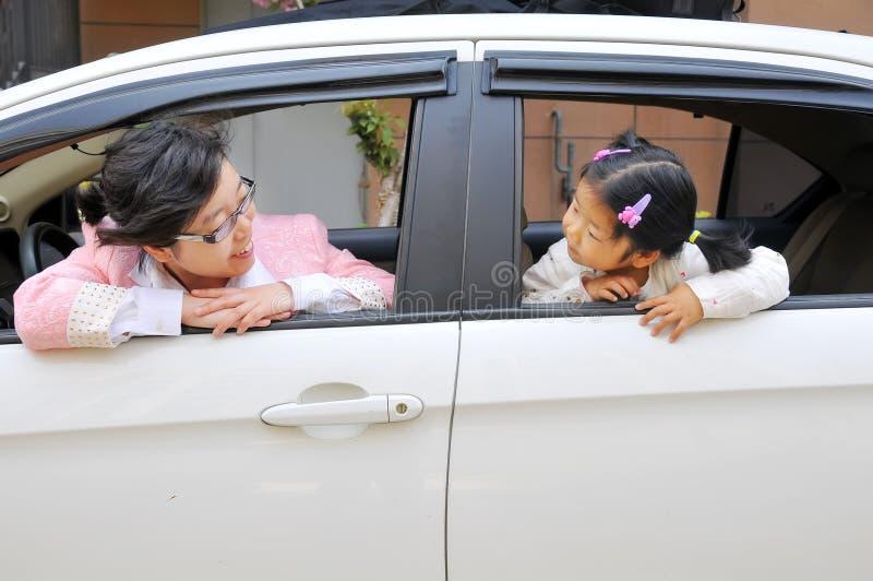 Chinese Mamma en dochter royalty-vrije stock foto