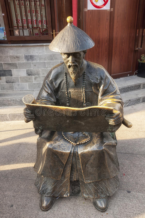 Chinese man statue stock images