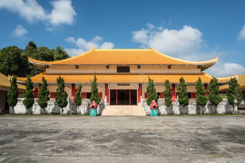 Chinese martert ` Erinnerungsmuseum auf Berg Doi Mae Salong von Chiang Rai-Provinz von Thailand lizenzfreie stockfotografie