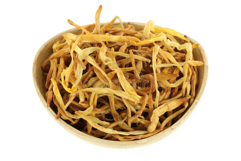 Download Chinese Medical Herb : A Bowl Of Dried Lily Buds Stock Photos - Image: 25061223